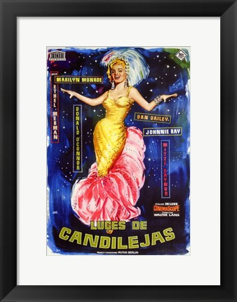 Framed There's No Business Like Show Business Spanish Print