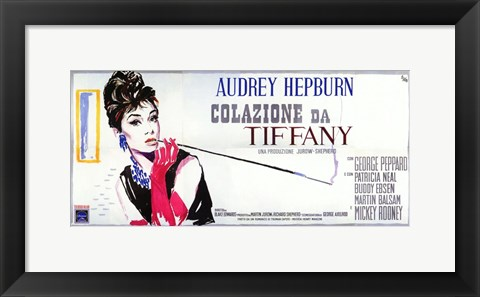 Framed Breakfast At Tiffany's Wide (italian) Print