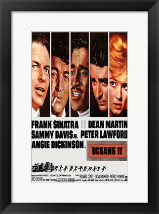 Framed Oceans 11 Cast Print