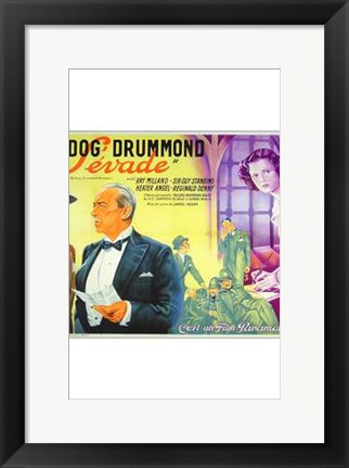 Framed Bulldog Drummond Escapes Print