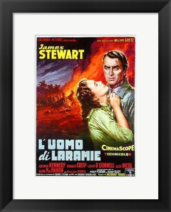 Framed Man from Laramie James Stewart Print
