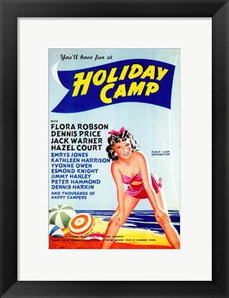 Framed Holiday Camp Print
