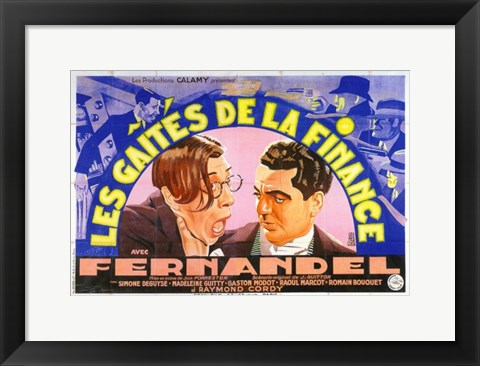 Framed Gaites De La Finance  Les Print