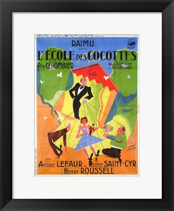 Framed School for Coquettes Print