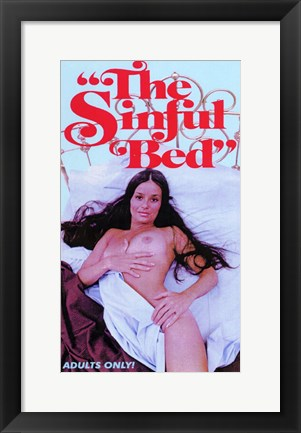 Framed Sinful Bed Print