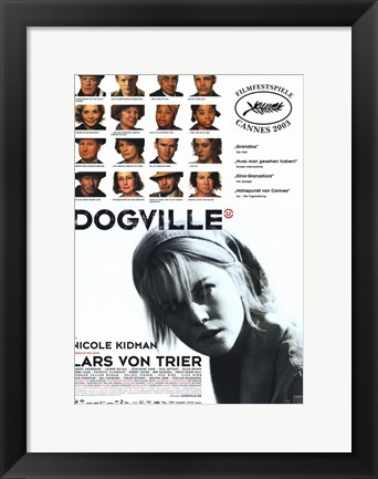 Framed Dogville Movie Poster German Print