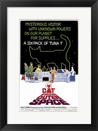 Framed Cat from Outer Space Print