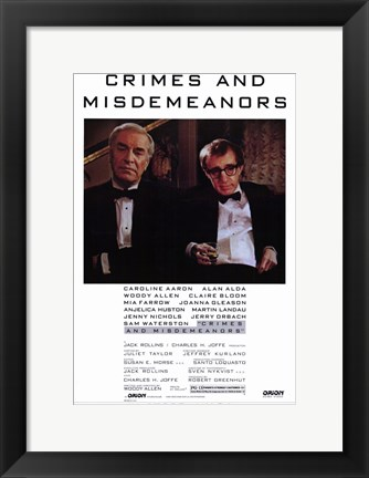 Framed Crimes and Misdemeanors Print