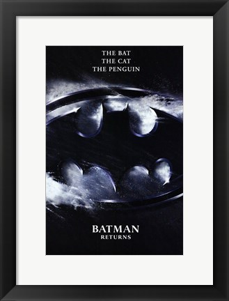 Framed Batman Returns Logo Print