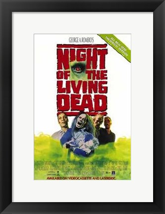 Framed Night of the Living Dead By Romero Print