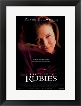 Framed Price Above Rubie Print