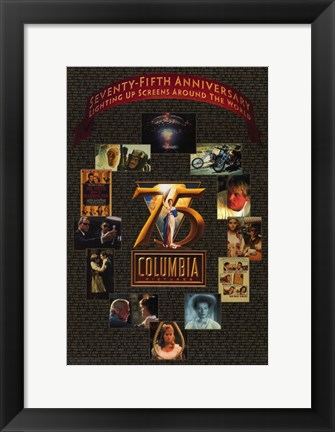 Framed Columbia Pictures 75Th Anniversary Print