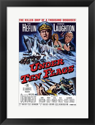 Framed Under Ten Flags Print