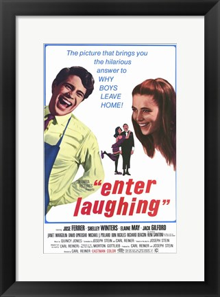 Framed Enter Laughing Print