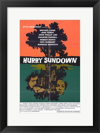 Framed Hurry Sundown Print