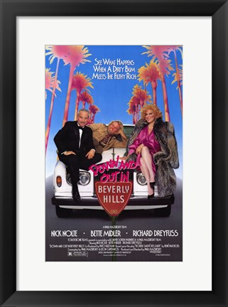 Framed Down and Out in Beverly Hills Print