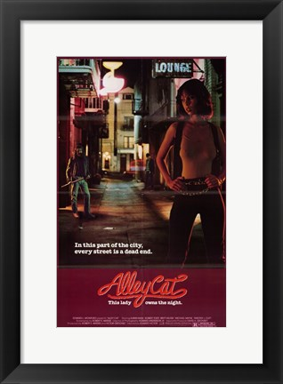 Framed Alley Cat Print