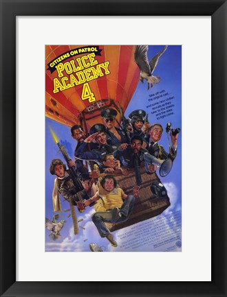 Framed Police Academy 4 Citizens on Patrol Print