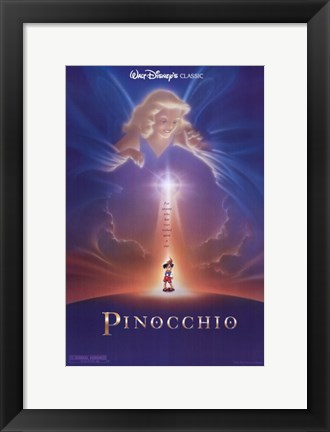 Framed Pinocchio Wish Upon a Star Print