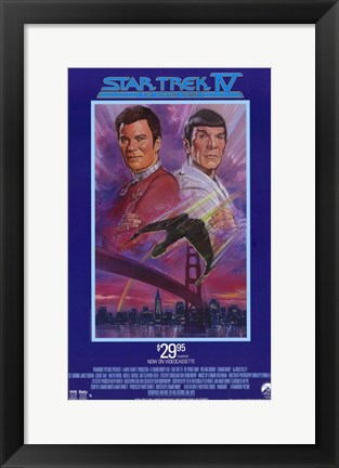 Framed Star Trek 4: The Voyage Home (Video Cassette Release) Print