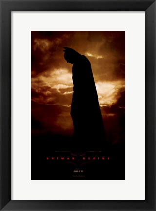 Framed Batman Begins June Print