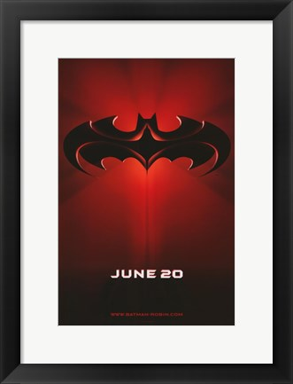 Framed Batman and Robin June 20 Print