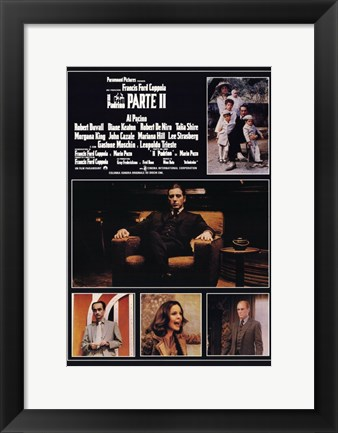 Framed Godfather Part 2 Italian Print