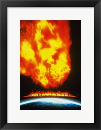 Framed Armageddon Earth Impact Print