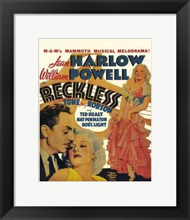 Framed Reckless - Jean William Print