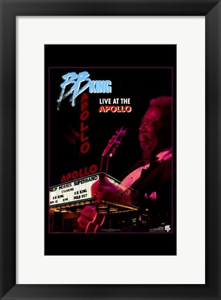 Framed Bb King Live At the Apollo Print