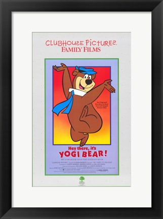 Framed Hey There It's Yogi Bear Print