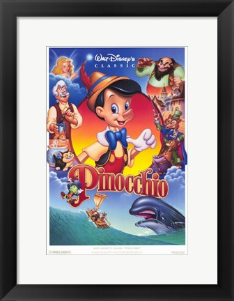 Framed Pinocchio VHS Print