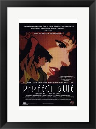 Framed Perfect Blue Print
