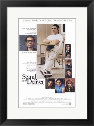 Framed Stand and Deliver Print