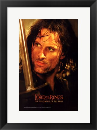 Framed Lord of the Rings: Fellowship of the Ring Boromir Print