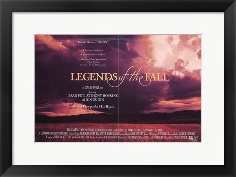 Framed Legends of the Fall Print