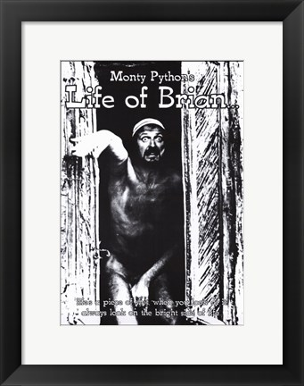 Framed Monty Python's Life of Brian With Graham Chapman Print