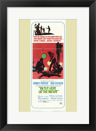 Framed In the Heat of the Night Sidney Poitier Print