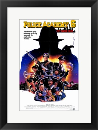 Framed Police Academy 6 City Under Siege Print
