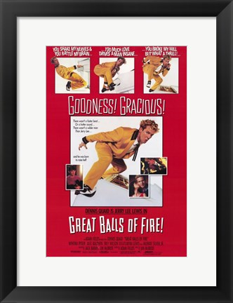 Framed Great Balls of Fire Goodness Gracious Print
