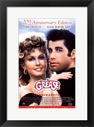 Framed Grease 20th Anniversary on Videocassette Print