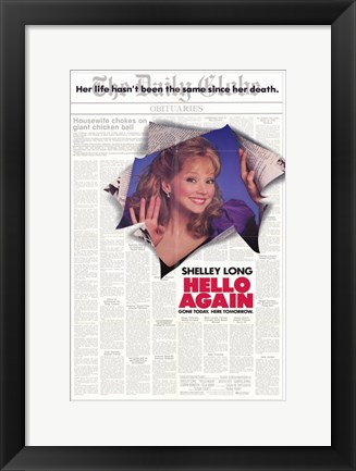 Framed Hello Again Print