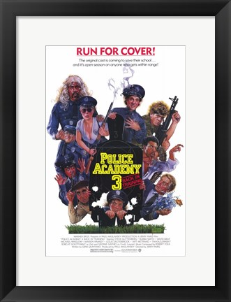 Framed Police Academy 3 Back in Training Print