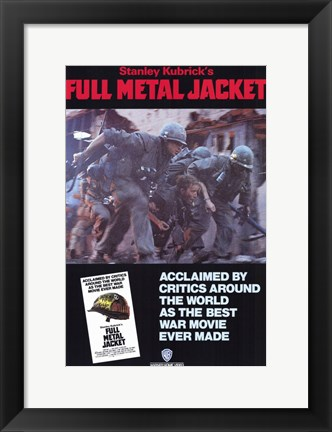 Framed Full Metal Jacket Best Ware Movie Ever Print