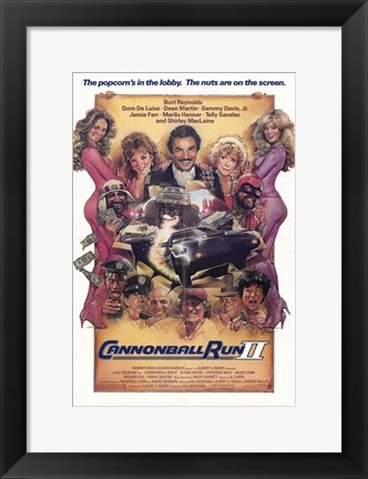 Framed Cannonball Run 2 Print