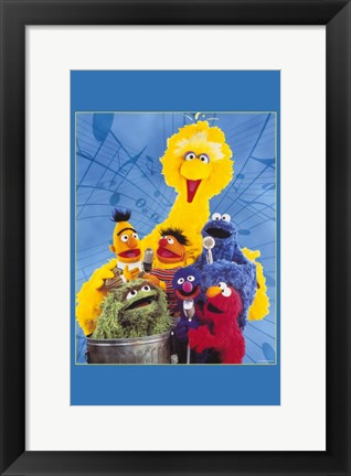 Framed Sesame Street(Tv) Print