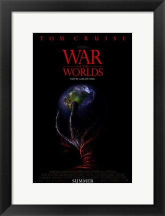 Framed War of the Worlds Globe Print