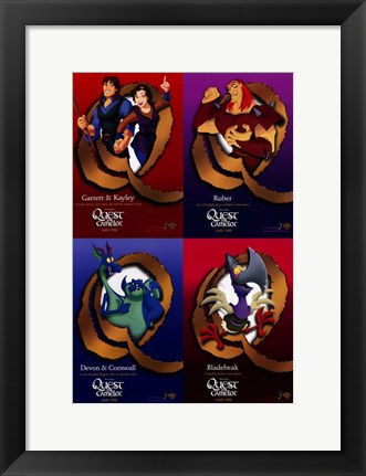 Framed Quest for Camelot Print