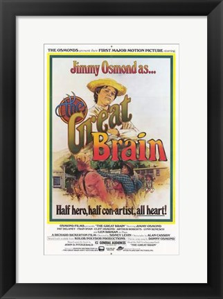 Framed Great Brain Print