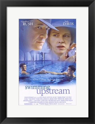 Framed Swimming Upstream Print